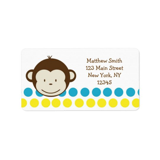 Mod Monkey Boy Return Address labels