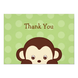 Mod Monkey Dots Flat Thank You Note Cards 13 Cm X 18 Cm Invitation Card