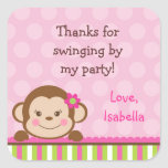 Mod Monkey Favour Thank You stickers Labels Seals