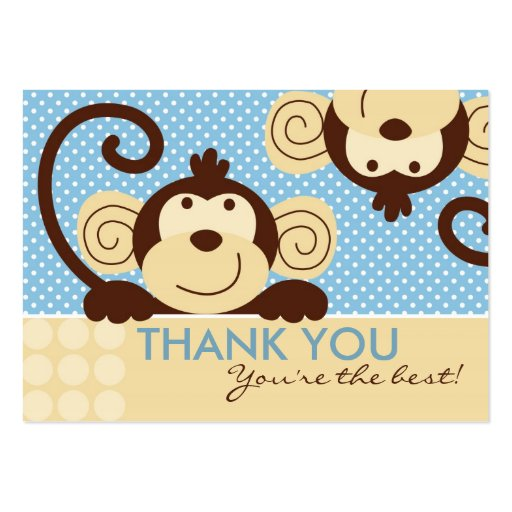 Mod Monkey TY Gift Tag Business Cards