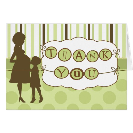 Mod Mum Baby Shower Thank You Note Card