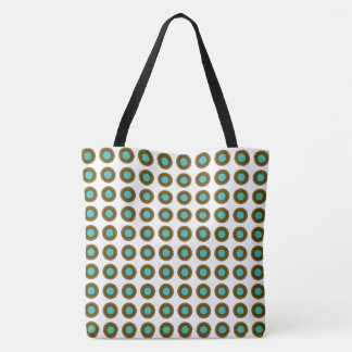 Mod-Museum_Teal-Gold-Brown-Multi- Styles & Size's Tote Bag