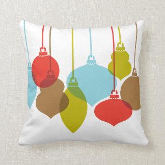 Mod Ornaments Retro Christmas Pillow