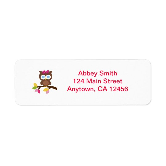 Mod Owl Return Address labels