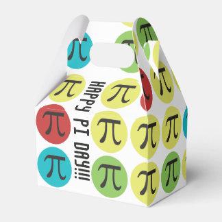 Mod Pi  Day - Colorful Pi Symbol Circles Favour Box