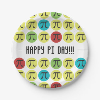 Mod Pi Paper Plates Party Supplies Colorful Pi