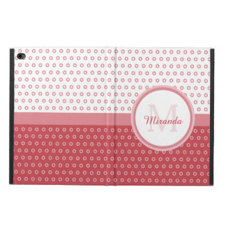 Mod Pink and White Polka Dots Monogram With Name