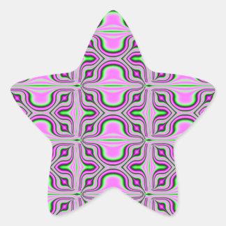 Mod pink mauve pattern star stickers