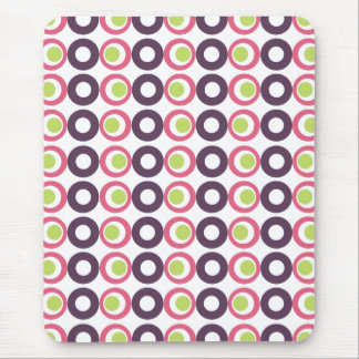 Mod Pink Olives Pattern Mousepad