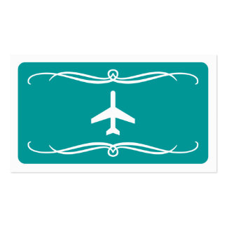 mod plane (color customizable) pack of standard business cards