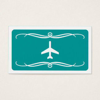 mod plane (color customizable) business card