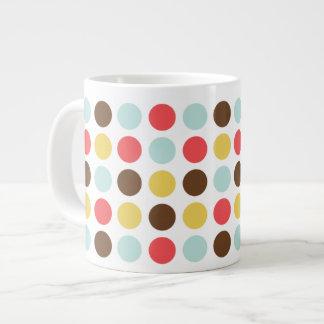 Mod polka dots modern personalized large coffee mug