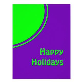 Mod pop art Happy Holidays 11 Cm X 14 Cm Invitation Card