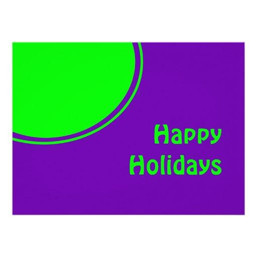 Mod pop art Happy Holidays Custom Announcements