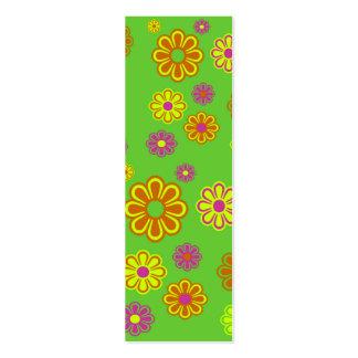 mod pop flowers skinny business card