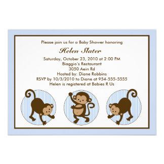 Mod Pop Monkey Baby Shower Invitation