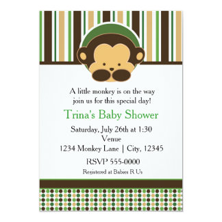 Mod Pop Monkey Jungle Baby Shower Party Invitation