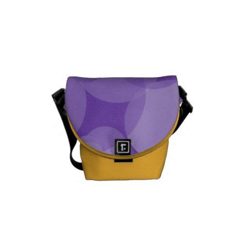 Mod Purple Circles Courier Bags