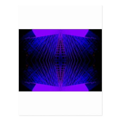 Mod Purple Urban Futurism cricketdiane Post Cards