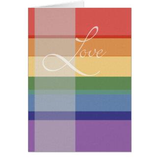 Mod Rainbow Love Card