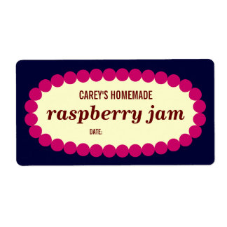 Mod Raspberry Jam Home Canning Jar Label Shipping Label
