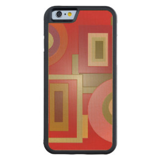 Mod Red Squares Circles Maple iPhone 6 Bumper