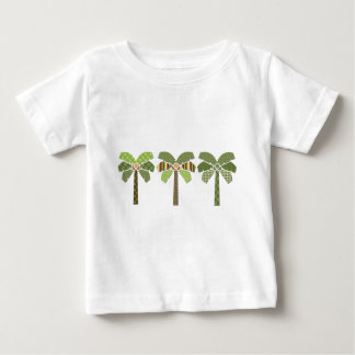 Mod Retro Abstract Patchwork Palm Trees Baby T-Shirt