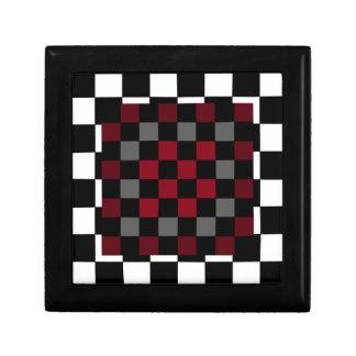 Mod Retro Hipster Checkerboard Jewelry Boxes