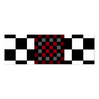 Mod Retro Hipster Checkerboard Pack Of Skinny Business Cards