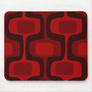 Mod Retro Red Burgundy Black Mousepad