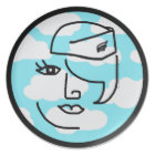 Mod Retro Stewardess Pop Art Design Plate