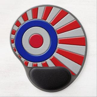 Mod Roundel Asian Sunburst in Carbon Fiber Style Gel Mouse Pad