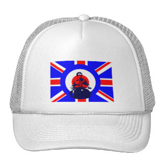 Mod Scooter Rider Union Jack Cap Trucker Hat