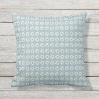 Mod-Soft-Blue-Daisy-Outdoor-Indoor-Pillow-Set's Cushion