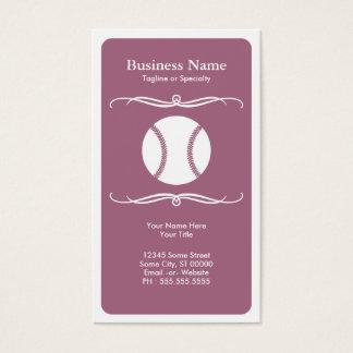 mod softball business card