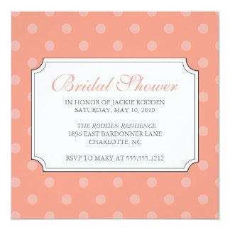 {mod squad} bridal shower 13 cm x 13 cm square invitation card