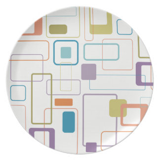 Mod Square Melamine Plate