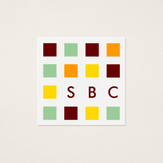 mod squares square business card