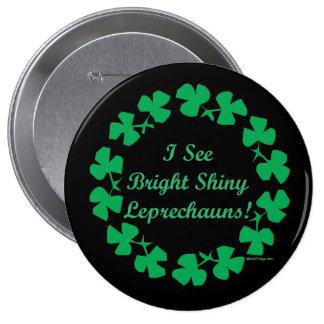 Mod St Patricks Day Lucky Leprechaun Button