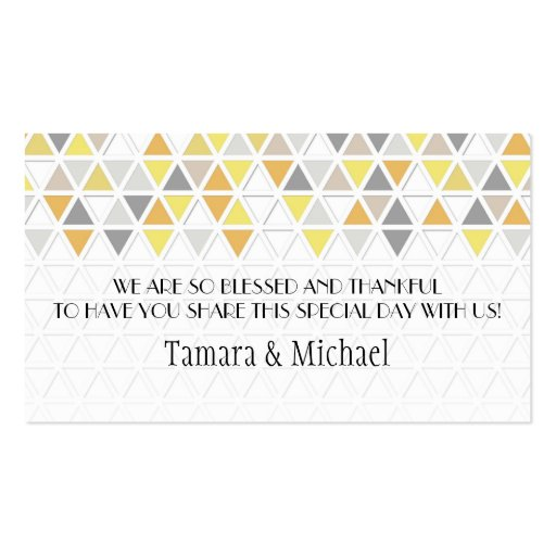 Mod Style Triangle Pattern Triangular Geometric Business Card Template
