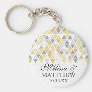 Mod Style Triangle Pattern Triangular Geometric Key Ring
