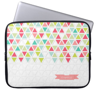 Mod Style Triangle Pattern Triangular Geometric Laptop Sleeve