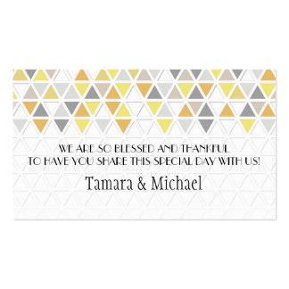 Mod Style Triangle Pattern Triangular Geometric Pack Of Standard Business Cards