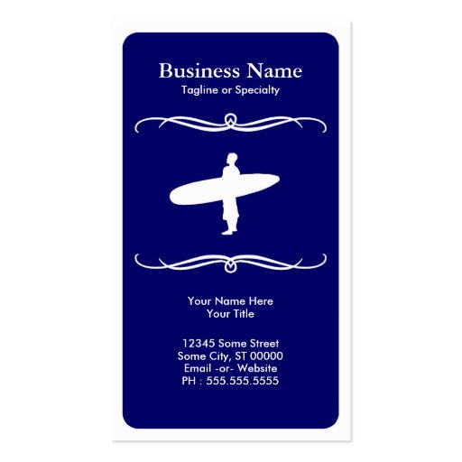 mod surfing business cards