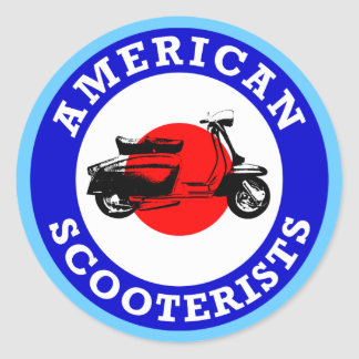 Mod Target - American Scooterists Classic Round Sticker