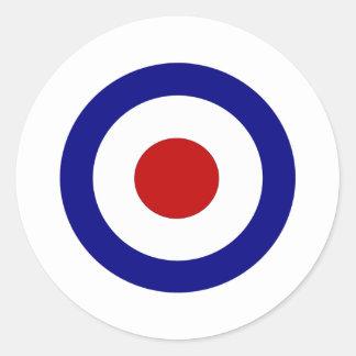 Mod Target Round Sticker