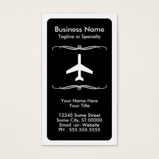 mod travel (color customizable) business card