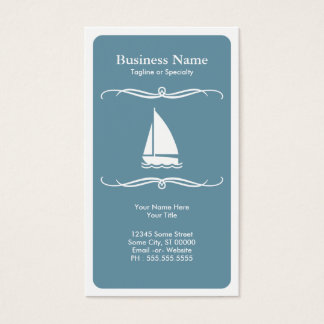 mod travel (sail boat) business card