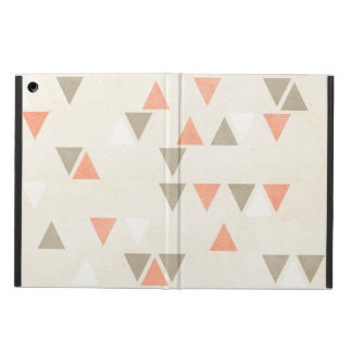 Mod Triangles Coral & Beige Gray Abstract Arrows Case For iPad Air