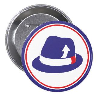 Mod Trilby 7.5 Cm Round Badge